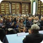 Un momento della presentazione: Cesare de Seta, Carlo Vecce, Maurizio Torrini