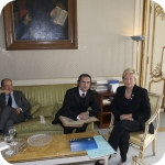 Dalla sinistra: Giuseppe Cataldi, Riccardo Muti, Lida Viganoni