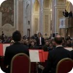 Riccardo Muti dirige l'orchestra del Conservatorio San Pietro a Majella