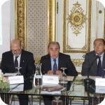 Da sin. i proff. Agostino Cilardo, Luigi Serra, Giuseppe Cataldi