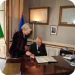 Il Presidente Giorgio Napolitano e il Rettore Lida Viganoni, 2