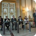 Apertura dei lavori: gli ambasciatori e Giuseppe Cataldi