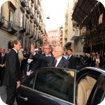 Il Presidente Giorgio Napolitano all'uscita di Palazzo Du Mesnil, 2