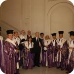 Giuseppe Bellini con il Senato Accademico