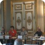 Da sin.: Sandrine Caddeo, Sophie Saffi, Romana Bardy e Guy Cornillac