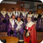 Sullo sfondo il Senato Accademico, in primo piano Riccardo Maisano, Raffaele La Capria e Pasquale Ciriello
