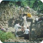 Uno scatto degli scavi