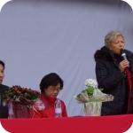 Lida Viganoni durante l'apertura