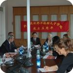 La delegazione nella Sala del Consiglio