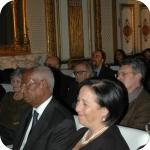 In prima fila: Yaqob Beyene e la signora Beyene