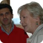 Lida Viganoni e il dottore Flaminio dell'Ufficio Affari Interni