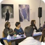 Un momento della presentazione (in oridne, dalla destra: M. De Chiara, M. Coppola, O. Palusci, S. Guarracino)
