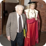 L'ingresso di Yves Bonnefoy e del Rettore, Lida Viganoni