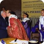Da sin.: Jean-Pierre Vernant, Mario Agrimi, Bruno D'Agostino, Riccardo Maisano