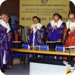 Da sin.: Jean-Pierre Vernant, Bruno D'Agostino, Riccardo Maisano, Mario Agrimi