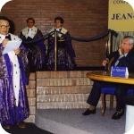 Bruno D'Agostino durante la Laudatio Academica, sulla destra Jean-Pierre Vernant