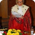 Il Rettore Lida Viganoni durante il Discorso di Apertura