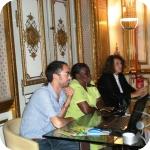 Manlio Larotonda con Carmen Julia Palacio e Flavia Cuturi