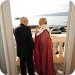 Il Presidente Giorgio Napolitano e il Rettore Lida Viganoni, Panorama di Palazzo Du Mensil