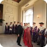 Il Presidente Giorgio Napolitano e il Rettore Lida Viganoni con il Senato Accademico