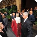Il Presidente Giorgio Napolitano e il Rettore Lida Viganoni all'uscita di Palazzo Du Mensil