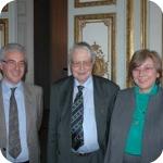 I proff. Salvatore Luongo, Max Pfister ed Elda Morlicchio prima della manifestazione