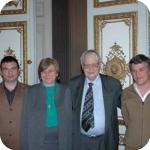 Nell'ordine, da sinistra a destra i proff. Sergio Lubello, Elda Morlicchio, Max Pfister, Francesco Montuori;