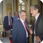 Sullo sfondo, Pietro Giovanni Guzzo e Alain Schnapp. In primo piano, Bruno d'Agostino