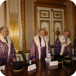 Proclamazione, da sin.: Domenico Silvestri, Pasquale Ciriello e Giovanni Battista De Cesare