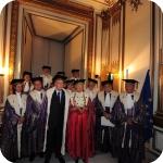 Il Presidente Giorgio Napolitano, il Rettore Lida Viganoni e il Senato Accademico