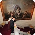Il Rettore Lida Viganoni e il Presidente Giorgio Napolitano, Palazzo Du Mesnil