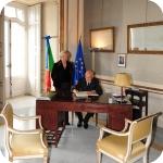 Il Presidente Giorgio Napolitano e il Rettore Lida Viganoni, 5