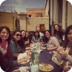 Gli studenti durante la pausa pranzo