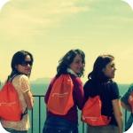Studentesse sulla terrazza panoramica alle spalle del Conservatorio delle Orfane