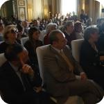 Sala delle Conferenze, in prima fila, il Direttore Giunto e Roberta Giunta, curatrice della mostra con Lucia Caterina