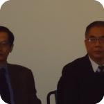 PAN - Il Consigliere Culturale dell'Ambasciata cinese Zheng Hao e il Co-direttore dell'Istituto Confucio Gong Longsheng