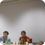 I tre relatori: Valerio Petrarca, Luigi Gaffuri, Monica Bandella