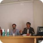 Un momento della relazioni di Valerio Petrarca, Luigi Gaffuri eMonica Bandella