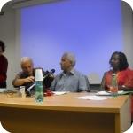 Il professor Triulzi, Gabriel Tseggai e la professoressa Ruth Iyob - 2