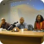 Il professor Triulzi, Gabriel Tseggai e la professoressa Ruth Iyob - 1