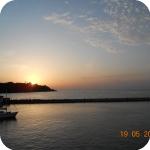 Il tramonto sull'isola