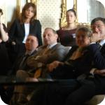 il pubblico, in prima fila il Direttore Giunto, la curatrice del catalogo del museo Roberta Giunta, e Andrea Manzo