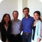 Shanghai International Studies University (SISU), incontro con i docenti di italiano (terzo da sinistra, il prof. Tang Jianmin.