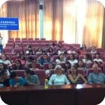 L'aula di Xian, con gli studenti e i docenti di italiano
