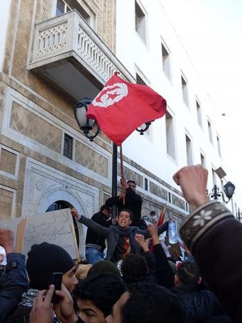 La carovana della liberazione a Tunisi