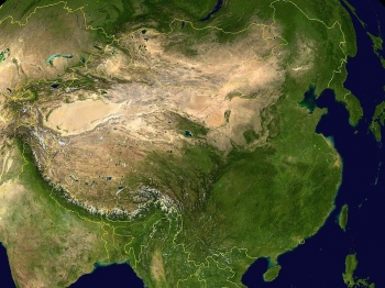 La Cina in un'immagine satellitare