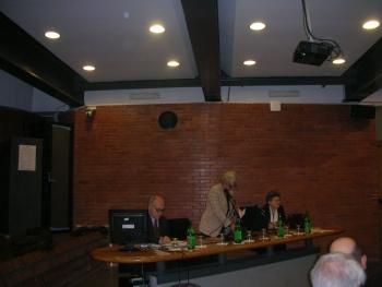 Il Rettore Lida Viganoni durante l'evento