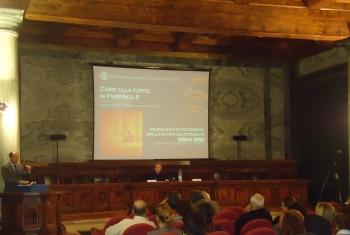 un momento della serata, dalla sin. Giuseppe Cataldi e Roberto Tottoli