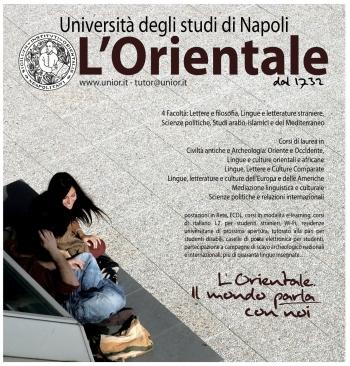 La locandina realizzata dall'Orientale per la campagna di comunicazione visiva 2011-12