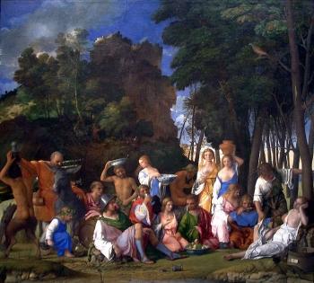 Il Festino degli dei, Giovanni Bellini, olio su tela (170 x 188 cm), 1514.